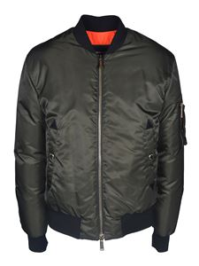 Dsquared2 - Coated nylon padded bomber jacket in green