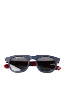 Drumohr - Round sunglasses in blue