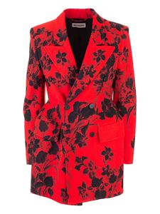 Balenciaga - Floral pattern double-breasted jacket in red