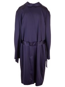 Balenciaga - Satin trench Back To Front dress in blue