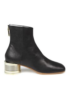 MM6 Maison Margiela - Brass detailed ankle boots in black