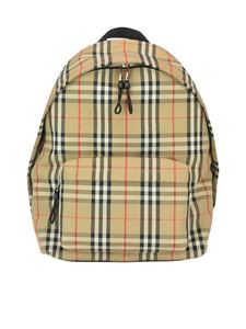 Burberry - Vintage check backpack in beige