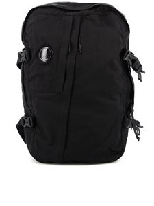 CP Company - Lens detailed nylon satin backpack in black