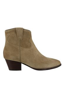 Ash - Houston ankle boots in beige