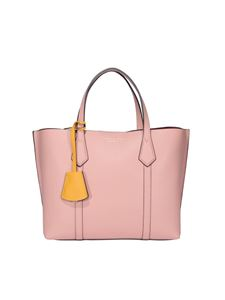 Tory Burch - Perry small grainy leather tote in pink
