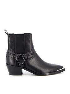 Ash - Dusty ankle boots in black