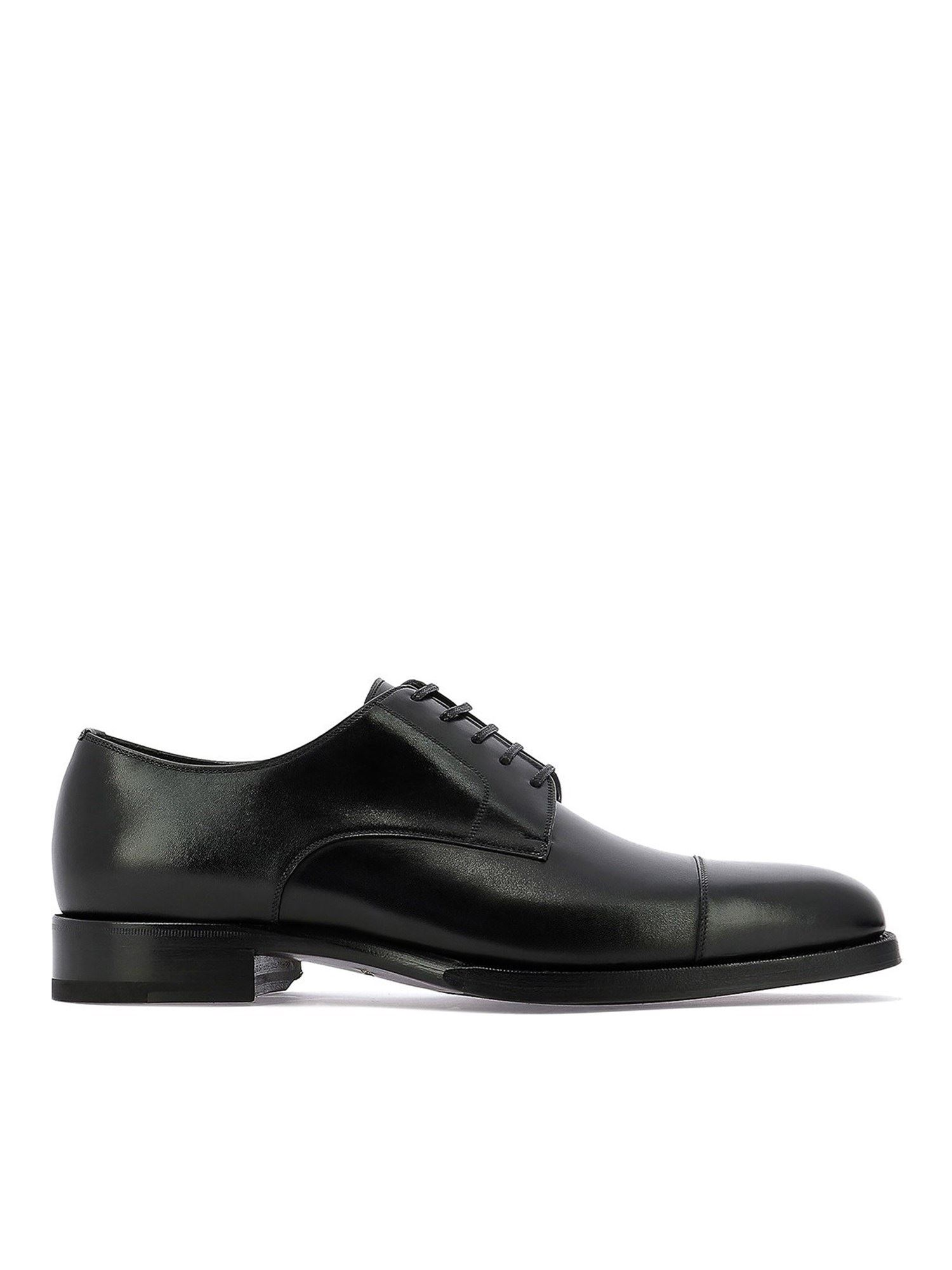 Tom Ford Leathers LEATHER LACE-UPS IN BLACK