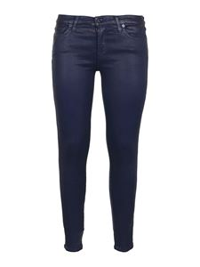 7 For All Mankind - The Skinny coated jeans in blue