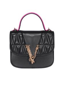 Versace - Neon detailed leather bag in black