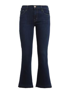 J Brand - Selena cropped boot jeans in dark blue