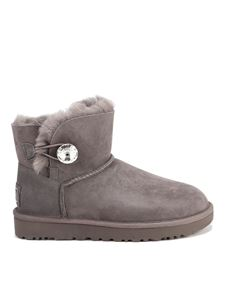 UGG - Mini Bailey Button booties in grey