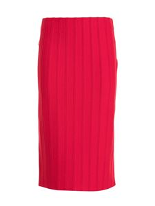 Emporio Armani - Ribbed skirt in red