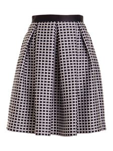 Emporio Armani - Check pleated skirt in black and white