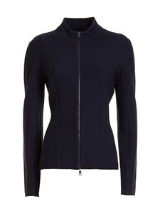 Emporio Armani - Knitted jacket in blue