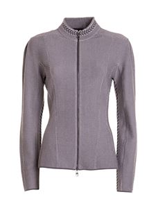 Emporio Armani - Knitted jacket in grey