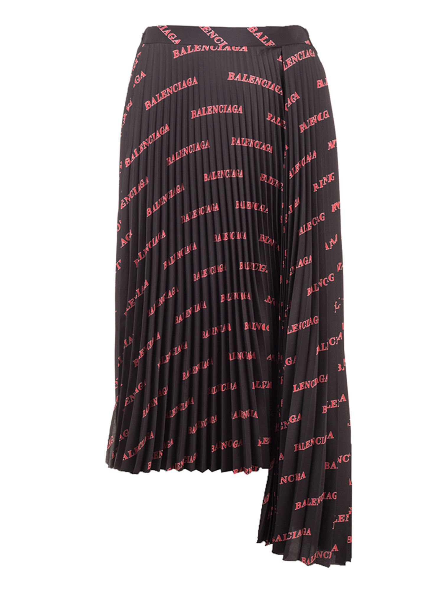Balenciaga Skirts ALLOVER SPORTY LOGO SKIRT IN BLACK AND RED