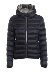 Colmar Originals - Hooded short puffer jacket in blue