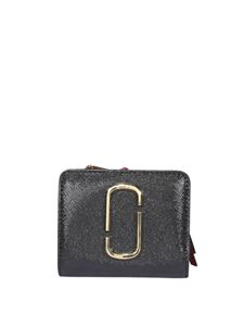 Marc Jacobs  - The Snapshot Mini Compact wallet in black