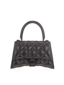 Balenciaga - Hourglass Small Quilted bag in black