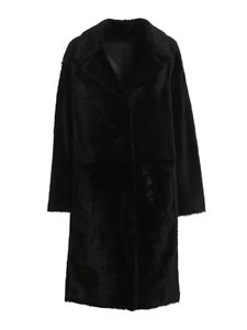 DROMe - Reversible shearling coat in black
