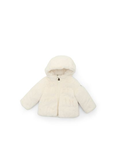 Moncler Jr - Eco-pelliccia Candle color avorio