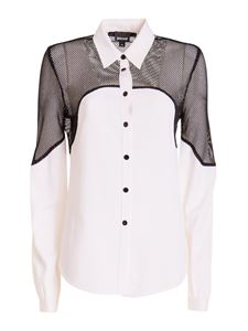 Just Cavalli - Contrasting panel shirt in white and black