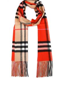 Burberry - Reversible cashmere scarf in beige