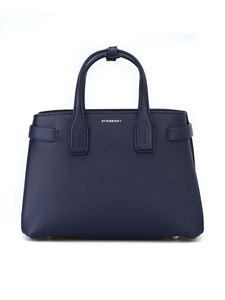 Burberry - The Small Banner regency blue leather bag
