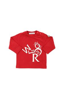 Moncler Jr - Printed T-shirt in red