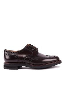 Church's - Brogue derby shoes in red