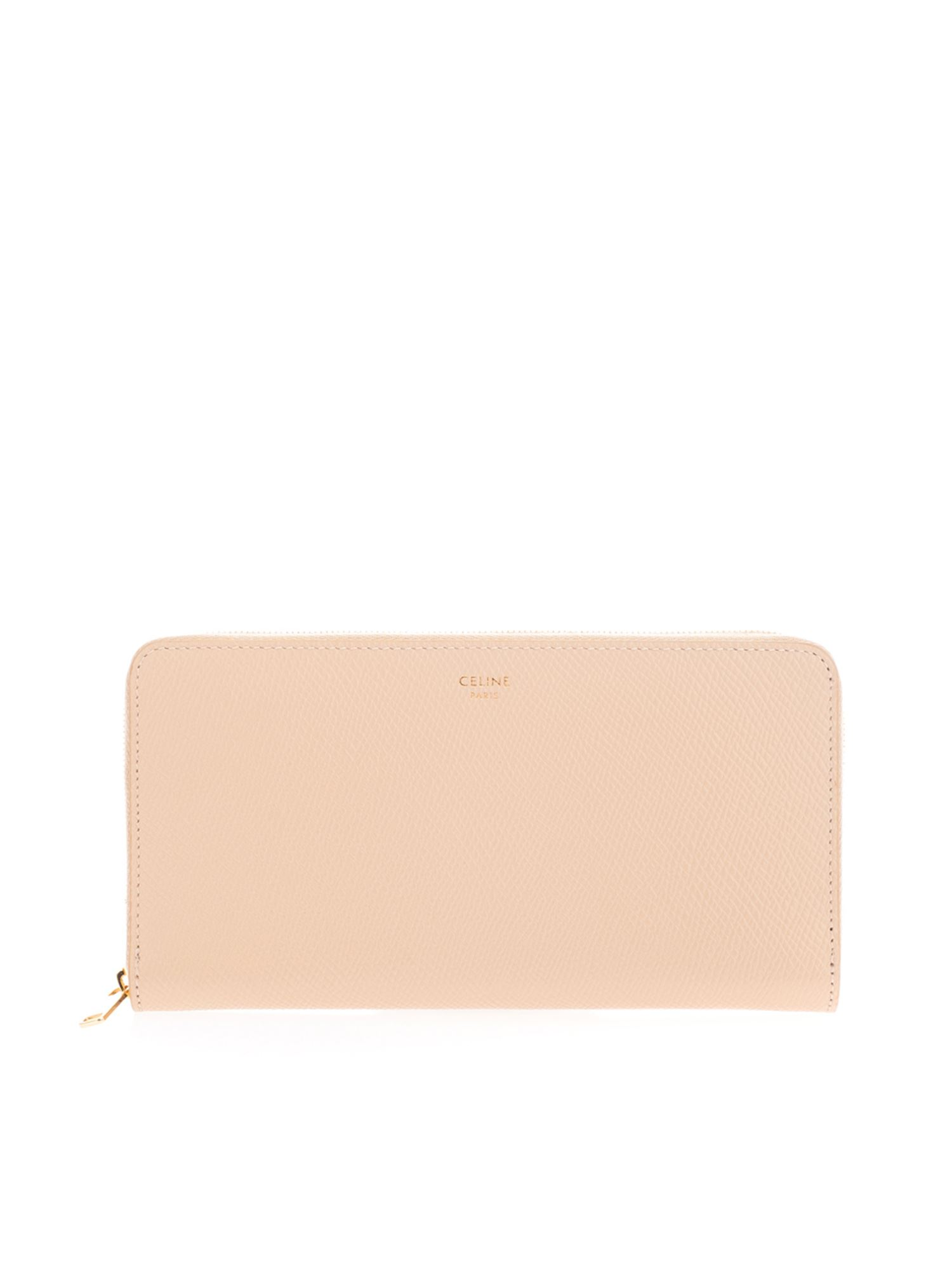Celine LARGE ZIP WALLET IN NUDE COLOR