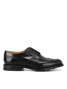 Church's - Ramsden polished fumé leather Derby brogues in black