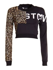 Just Cavalli - Leo panelled cropped sweatshirt