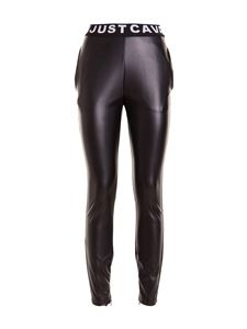 Just Cavalli - Synthetic leather pants in black