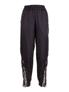 Just Cavalli - Nylon track pants in black