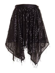 Just Cavalli - Sequined asymmetric skirt in black