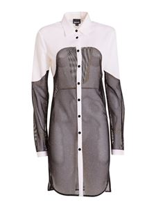 Just Cavalli - Contrasting panel long shirt