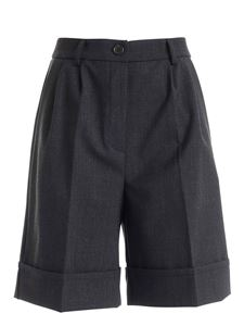 Semicouture - Wide leg shorts in anthracite color