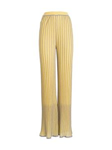 M Missoni - Lurex striped pants in yellow