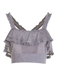 M Missoni - Lurex top in grey