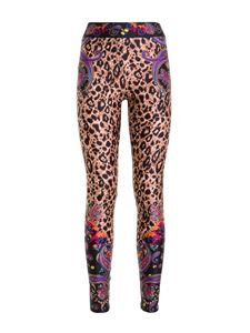 Versace Jeans Couture - Paisley and leopard printed leggings