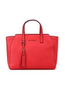 "PIQUADRO - iPad®Air/Pro 9,7"" red leather Muse hand bag"
