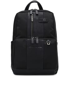 PIQUADRO - Water resistant fabric backpack