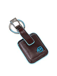PIQUADRO - Blue Square CONNEQU system brown key holder in brown