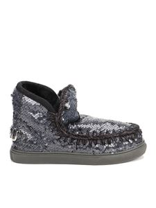Mou - Eskimo sequin embellished boots in black