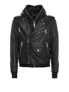 Philipp Plein - Statement leather jacket in black