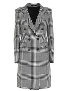 Tagliatore - Prince of Wales check coat in black and beige