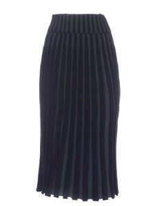 Kenzo - Pleated skirt in dark blue and green