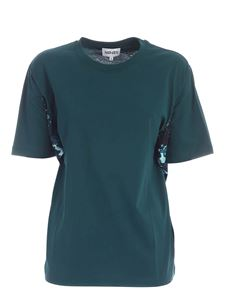 Kenzo - Floral drapery T-shirt in green