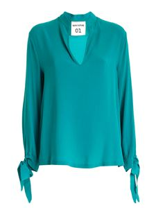 Semicouture - Blouse with bows in green